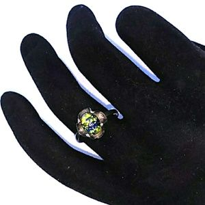 '80s TAXCO 925 Sterling Silver Blue & Green  Stone